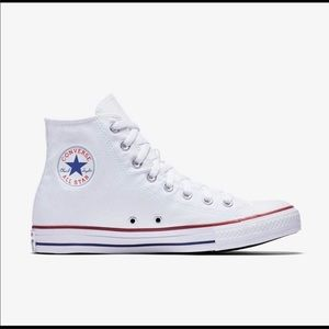 Unisex Converse All Star White High Top Sneakers